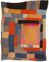 African-American housetop variation quilt